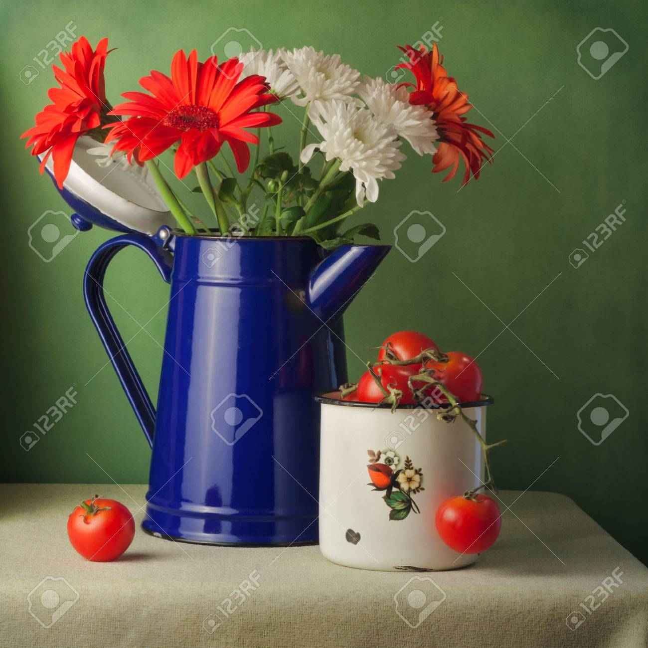 Still life flowers stock photos royalty free still life flowers vintage still life with flowers and cherry tomatoes reviewsmspy