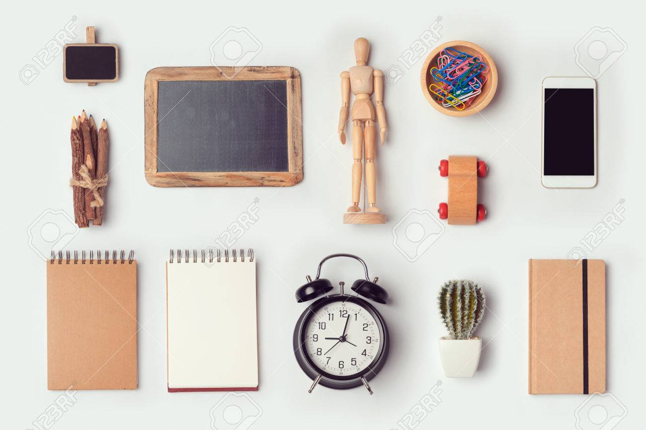 Immagini stock oggetti da scrivania designer mock up modello per