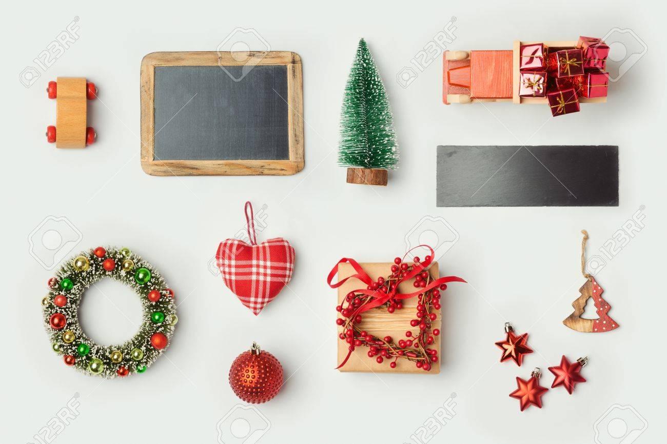 Weihnachtsschmuck Und Objekte Für Mock-up-Vorlage Design. Tafel ...