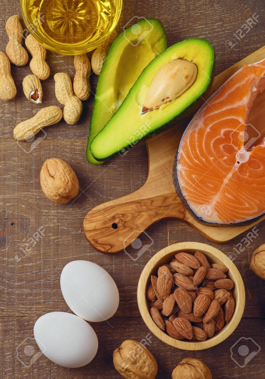 Ketogenic Low Carbs Diet Concept Healthy Eating And Dieting Stock