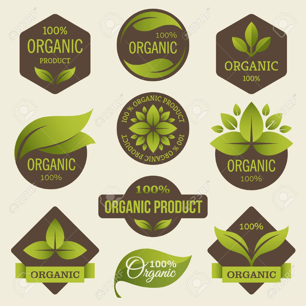 Organic products labels - 39435040