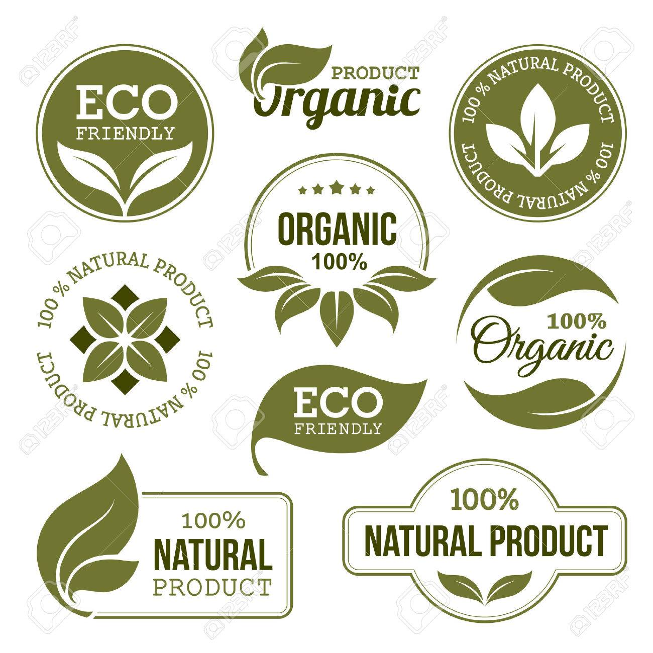 Green Organic Products Labels - 39434901