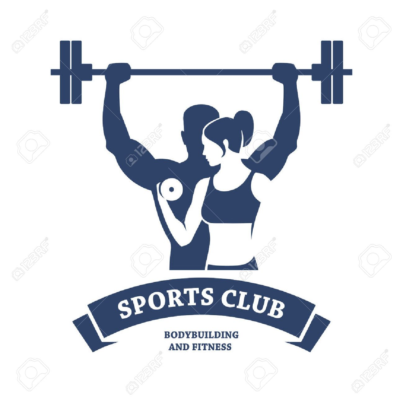 Fitness And Bodybuilding Club Royalty Free Cliparts, Vectors, And ...