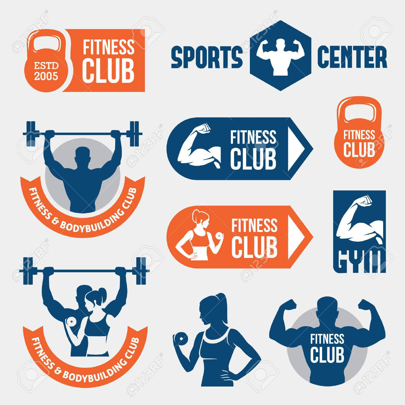 Colored gym labels - 41545987