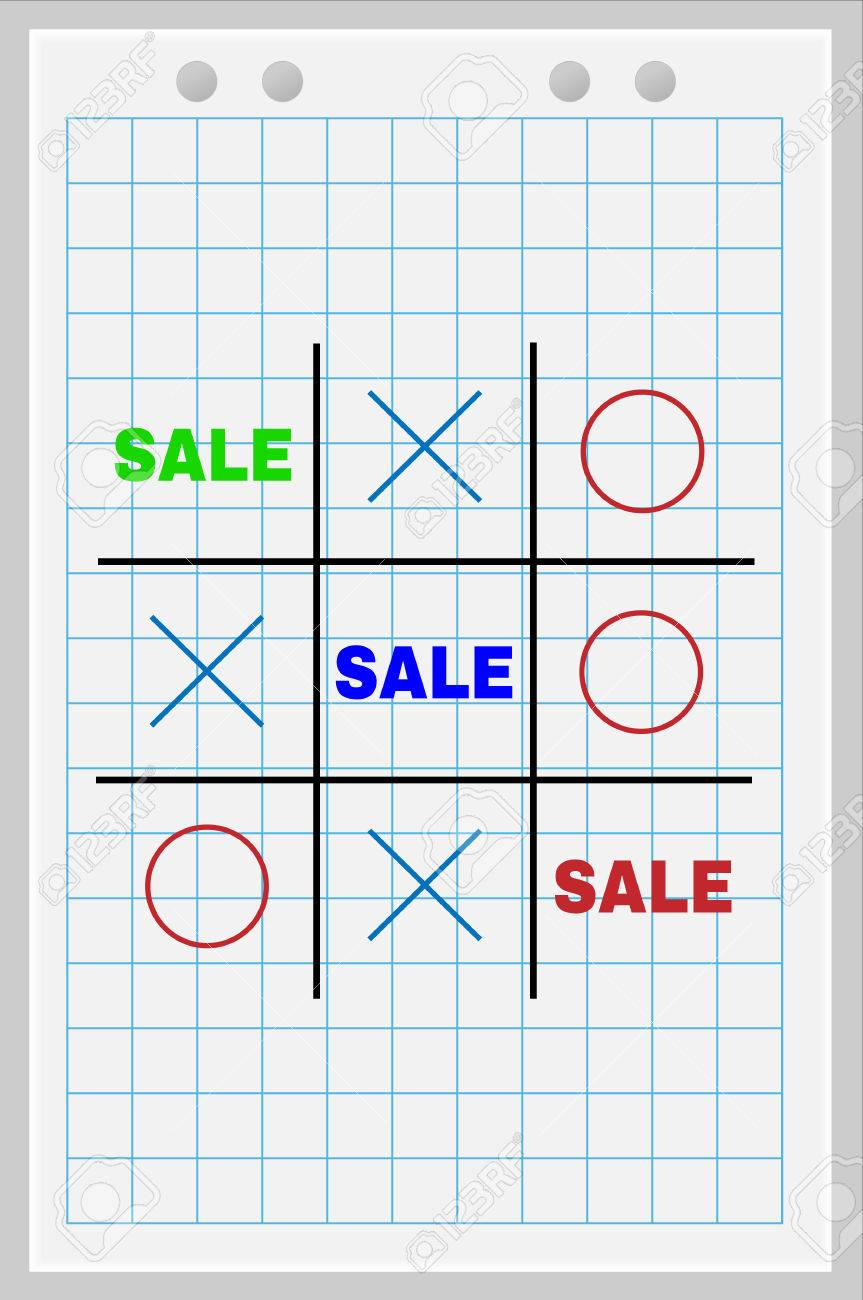 Concept Of Sale. Tic Tac Toe Game With The Word Rooms. Royalty Pertaining To Tic Tac Toe Template Word
