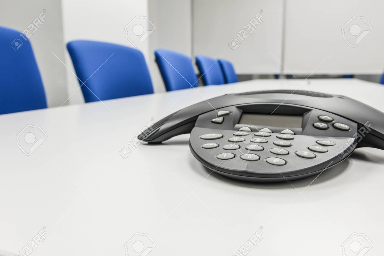 Ip Conference Phone The The Meeting Room Stock Photo Picture And