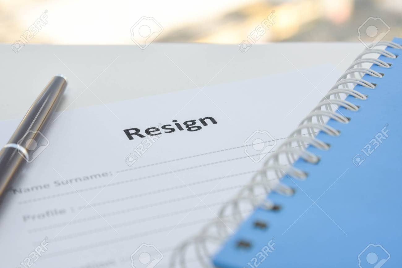 draft of resignation letter stock photo picture and royalty free