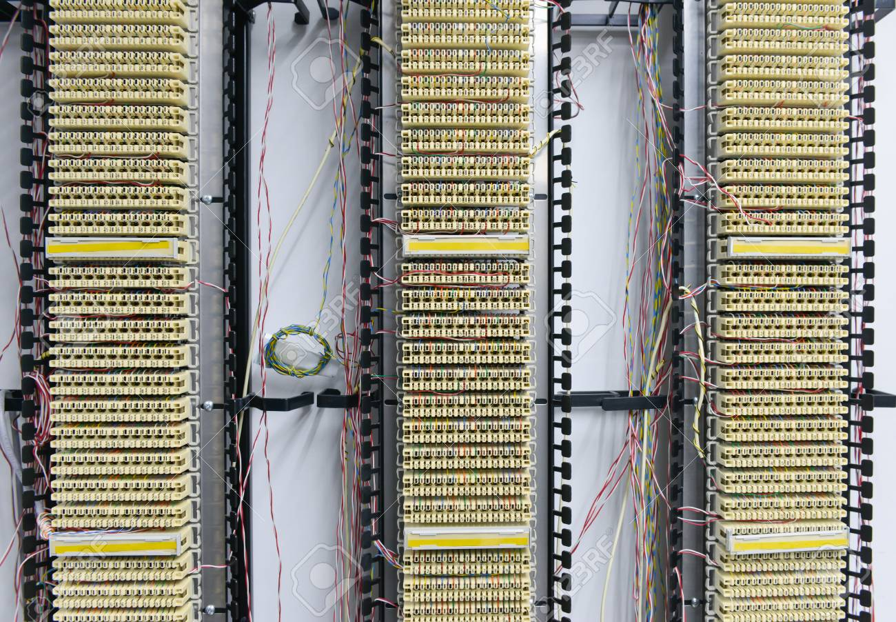 Pabx Telephone Exchange Wires Between Circuit Board Stock Photo Circuits 104275771