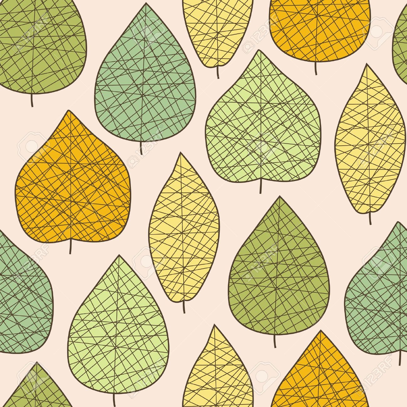Seamless stylized autumn leaf pattern Stock Vector - 15659693