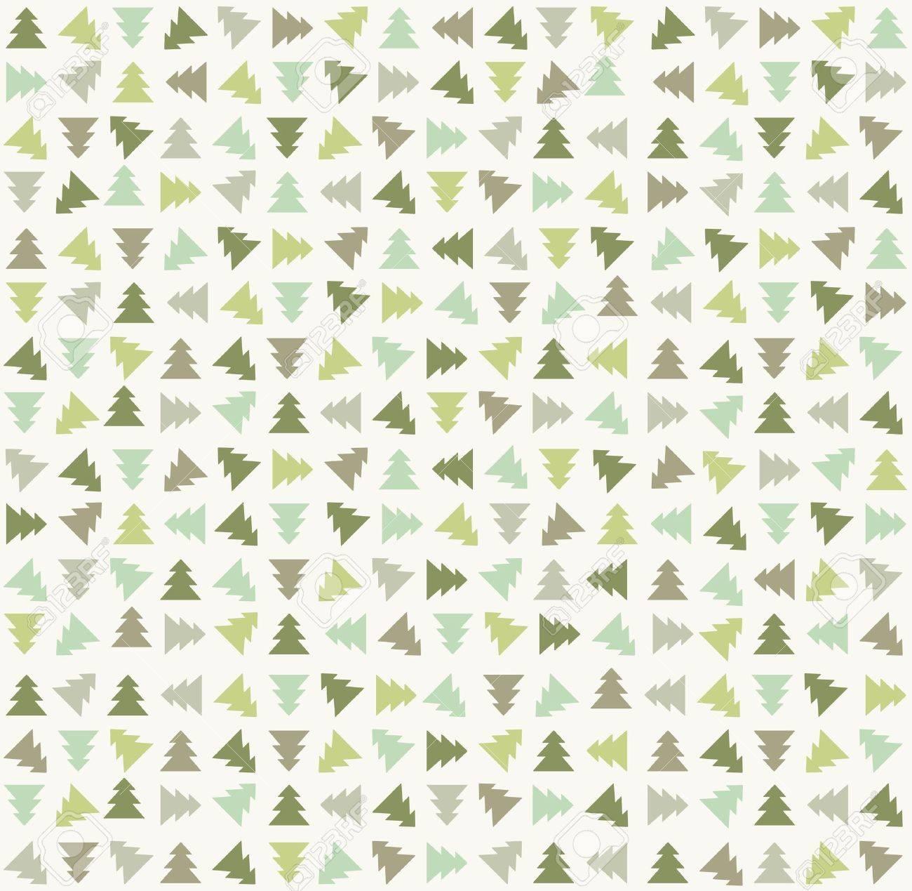 Stylish color christmas tree pattern  Vector illustration Stock Vector - 15703733
