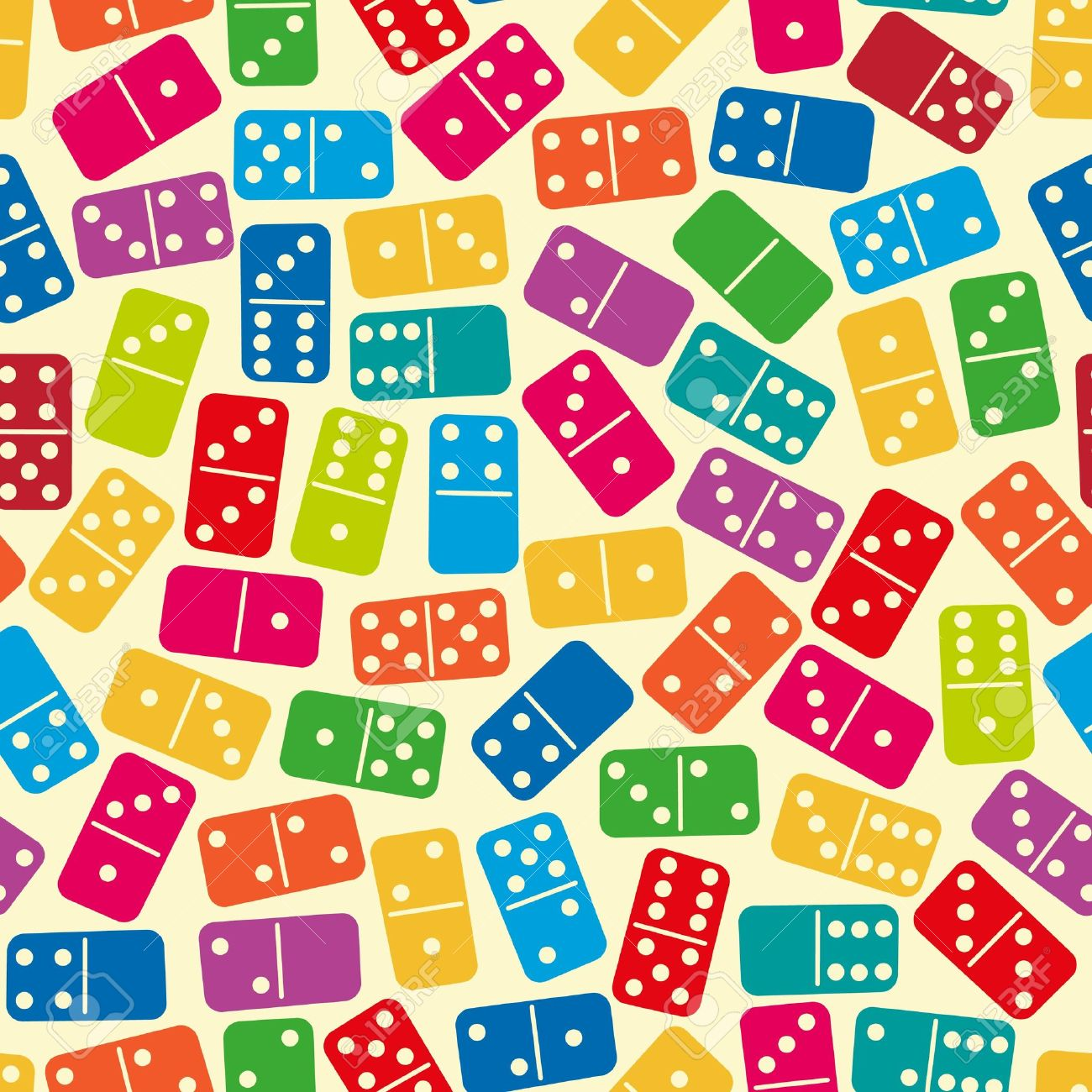 Game board colors - Board Game Seamless Stylish Color Dominoes Pattern Vector Illustration
