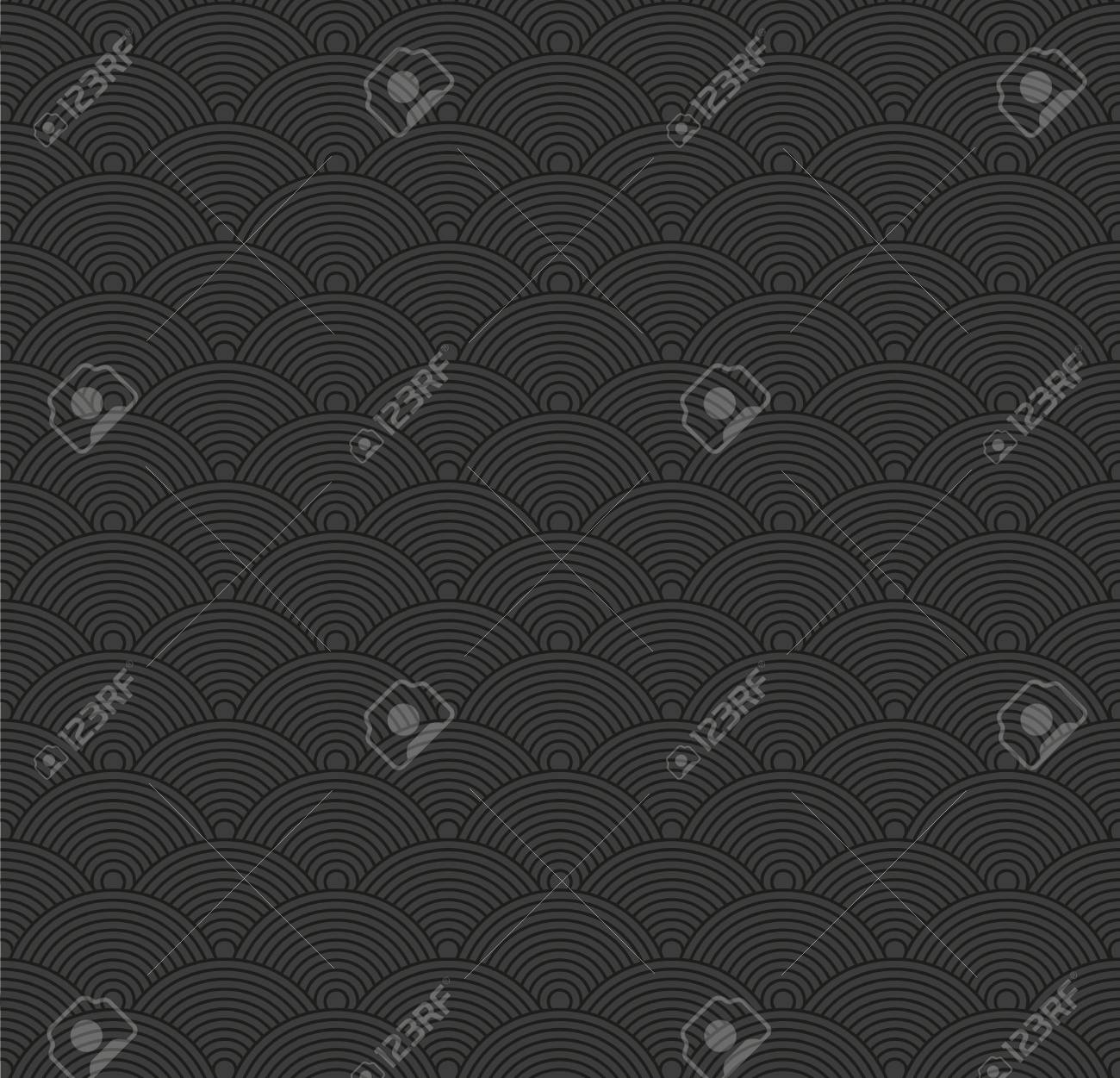 Seamless abstract dark pattern with circles. Stock Vector - 15802356