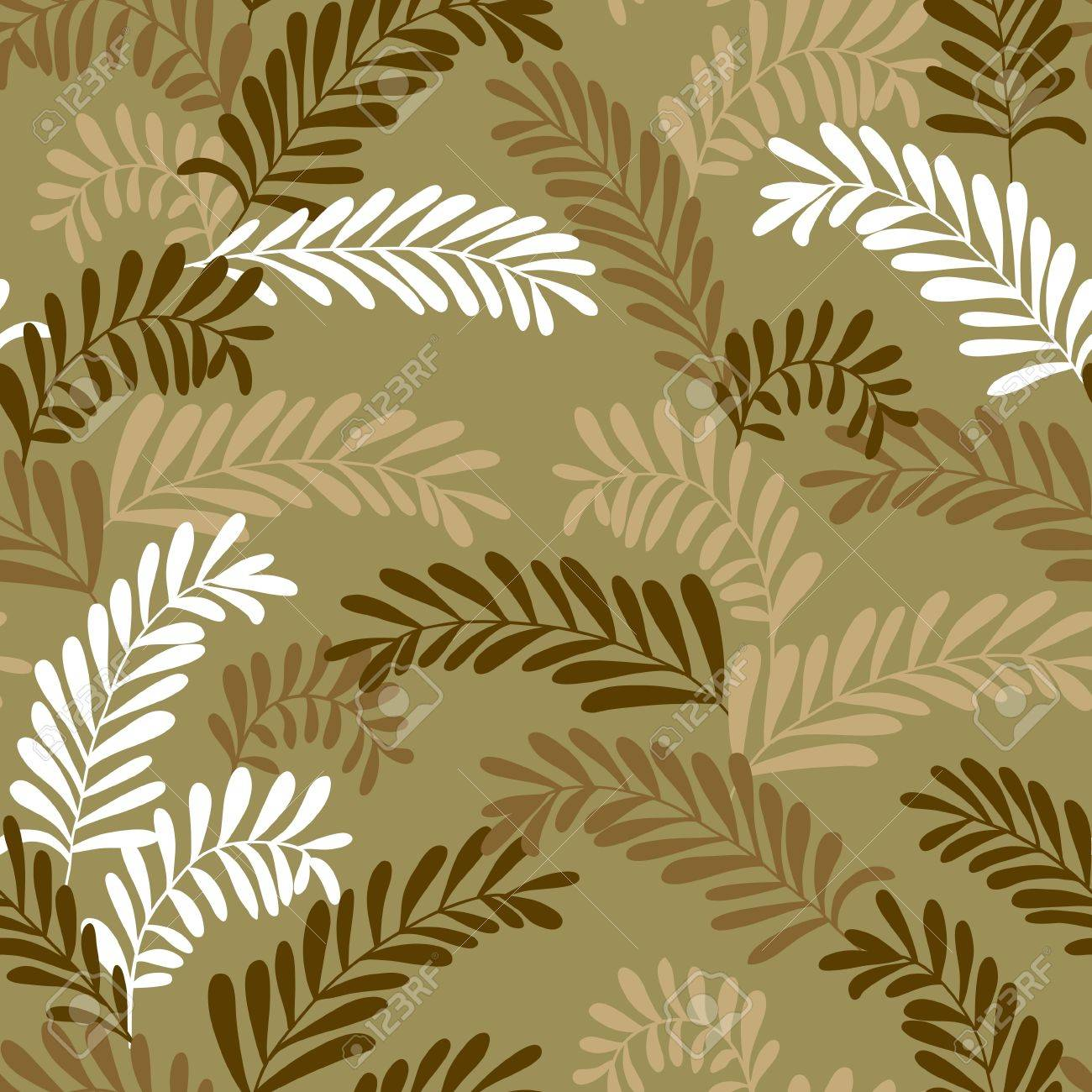 Seamless leaf pattern in brown colors Stock Vector - 17723856