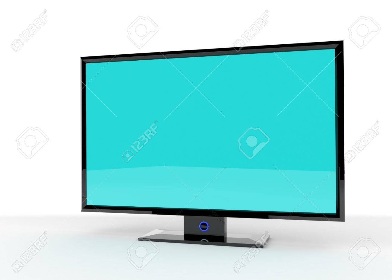 Flat Lcd tv/monitor on white background with light shadows for better depth. Stock Photo - 4824045