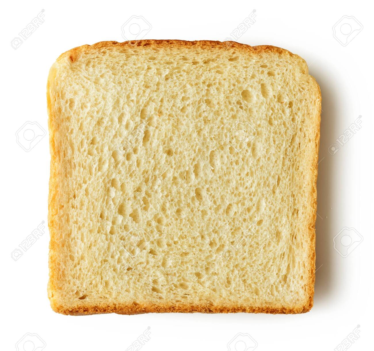 Slice of bread isolated on white - 141673739