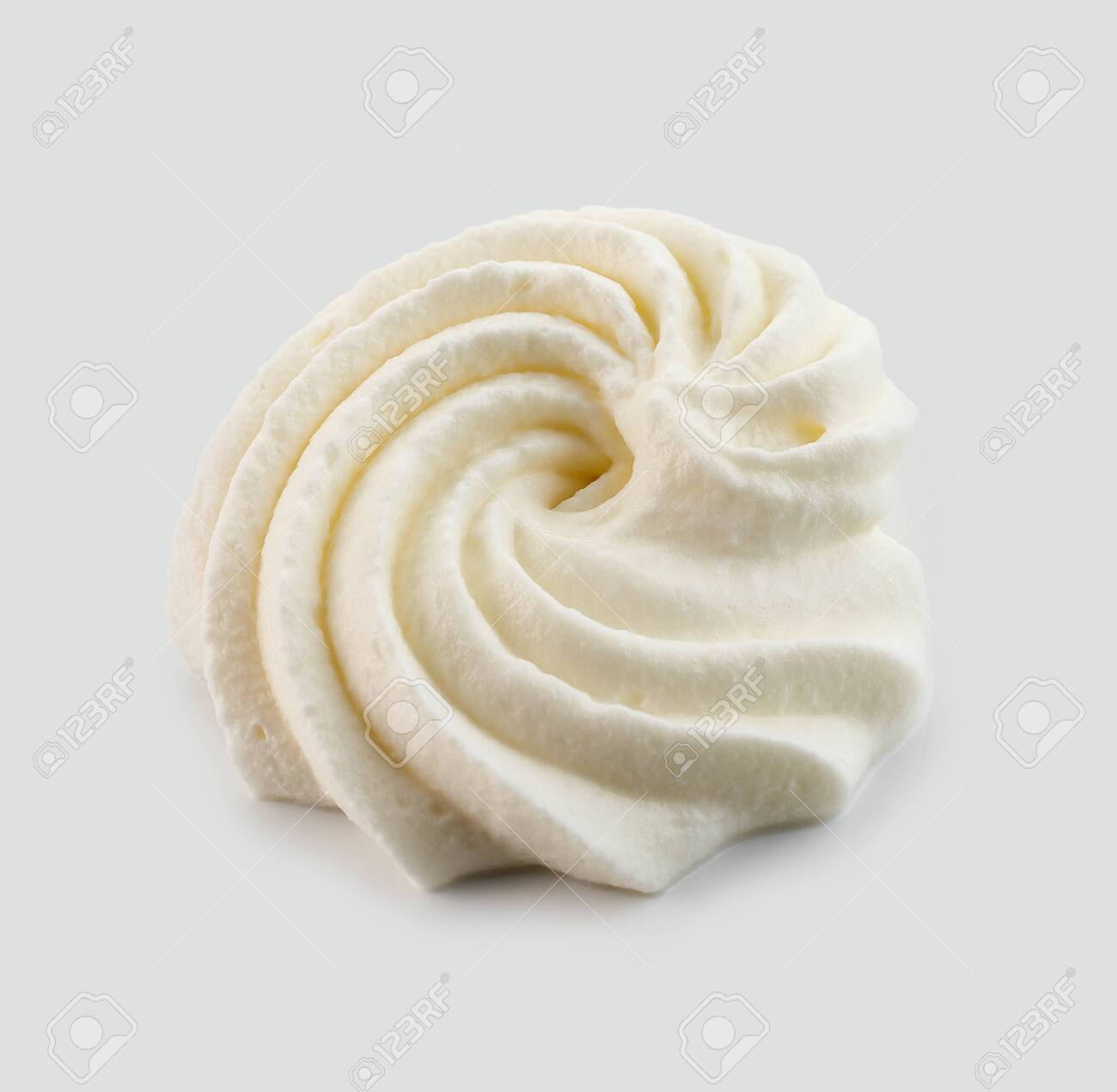 whipped cream isolated on light grey background - 147602970