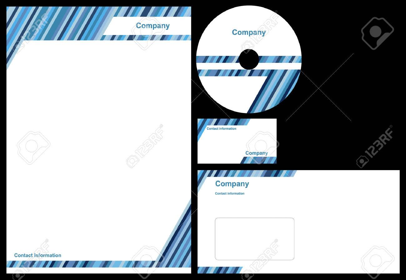 Corporate identity package with business card letterhead envelope corporate identity package with business card letterhead envelope and cd stock vector reheart Images