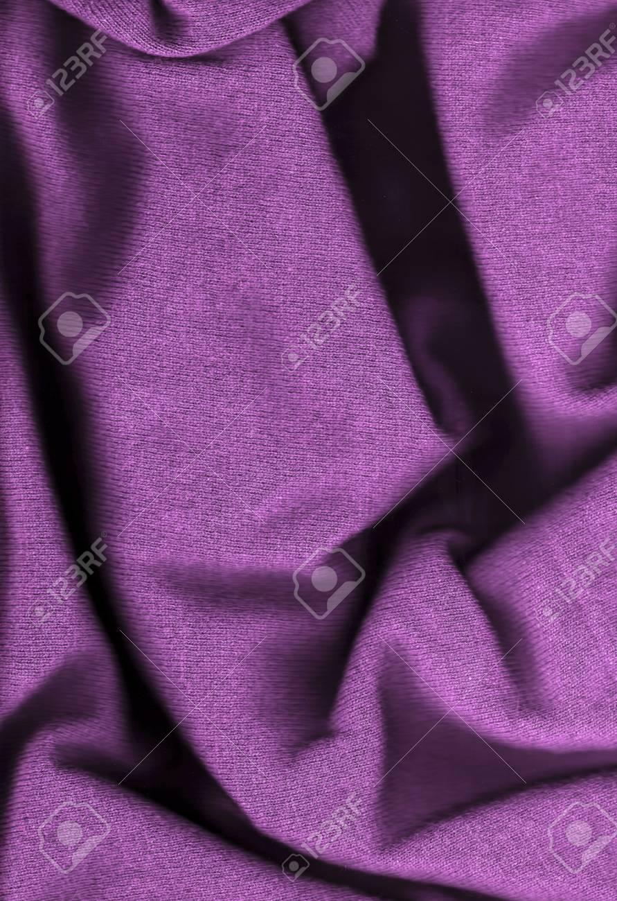 Purple wool background - close-up image Stock Photo - 6531218