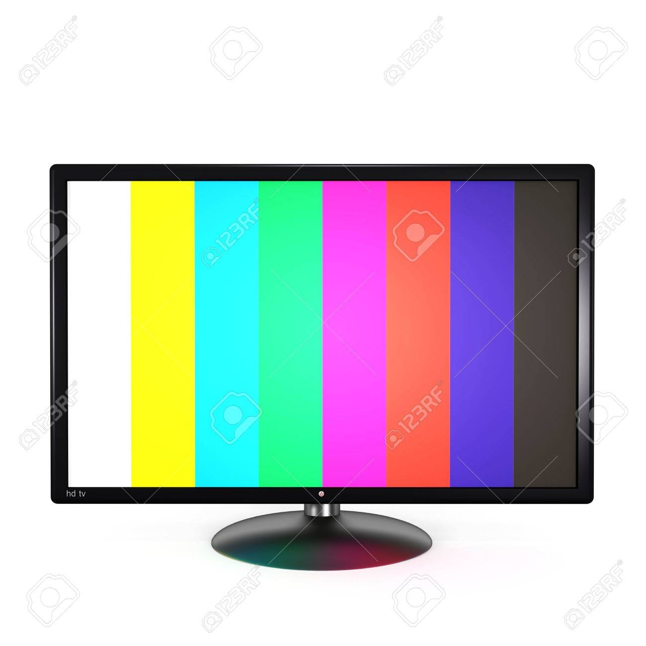 flat screen tv clipart. flat screen tv isolated on white background. 3d render. stock photo - 7422409 clipart