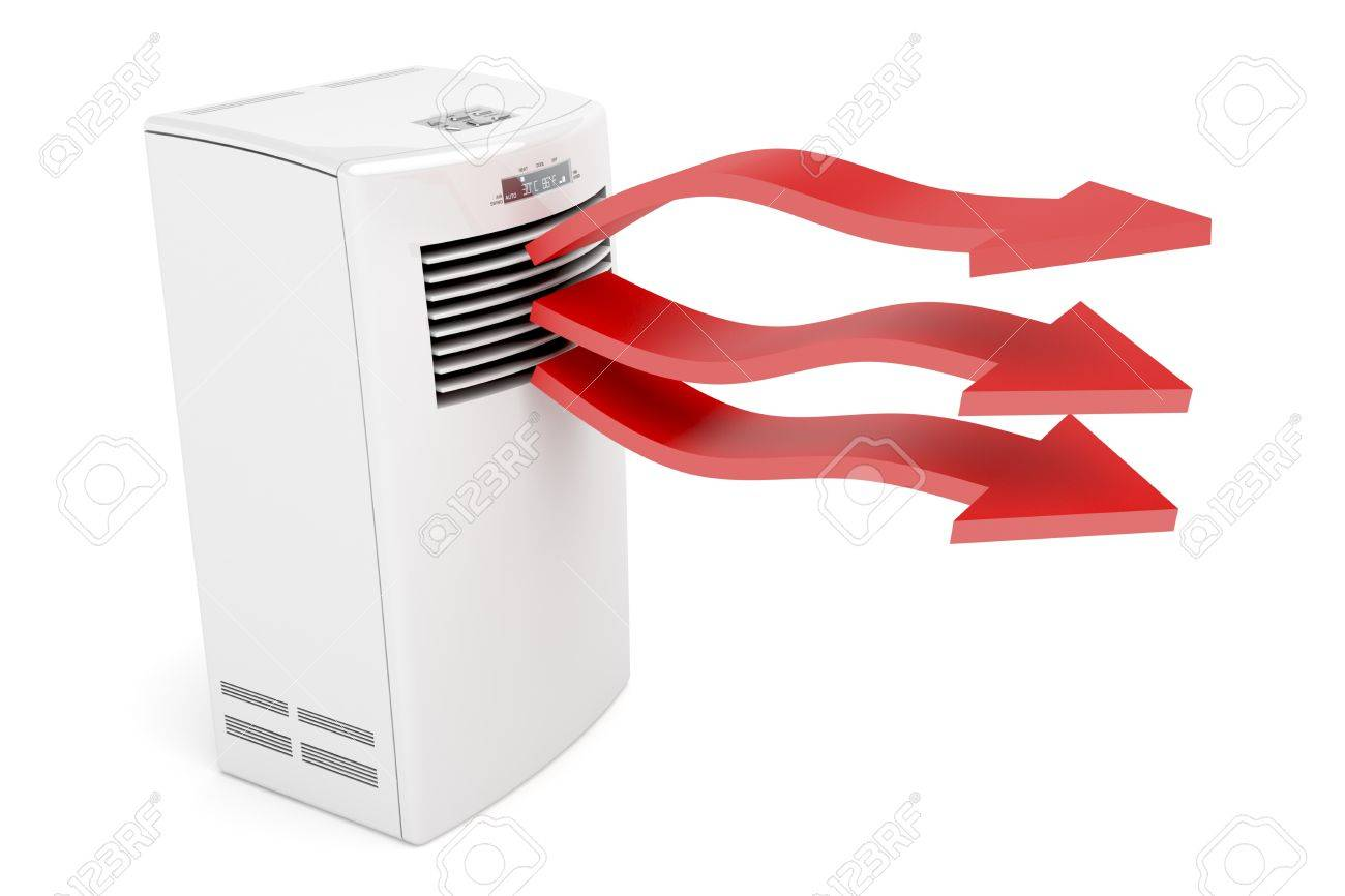 Air conditioner blowing hot air on white background Stock Photo - 10768566