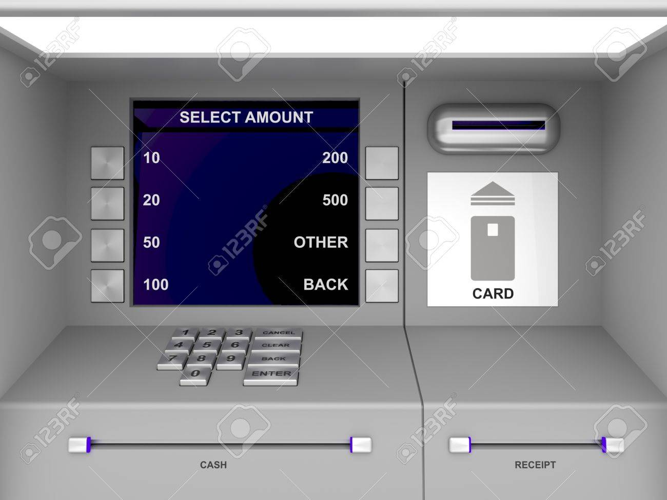 Details of gray ATM machine Stock Photo - 11212178