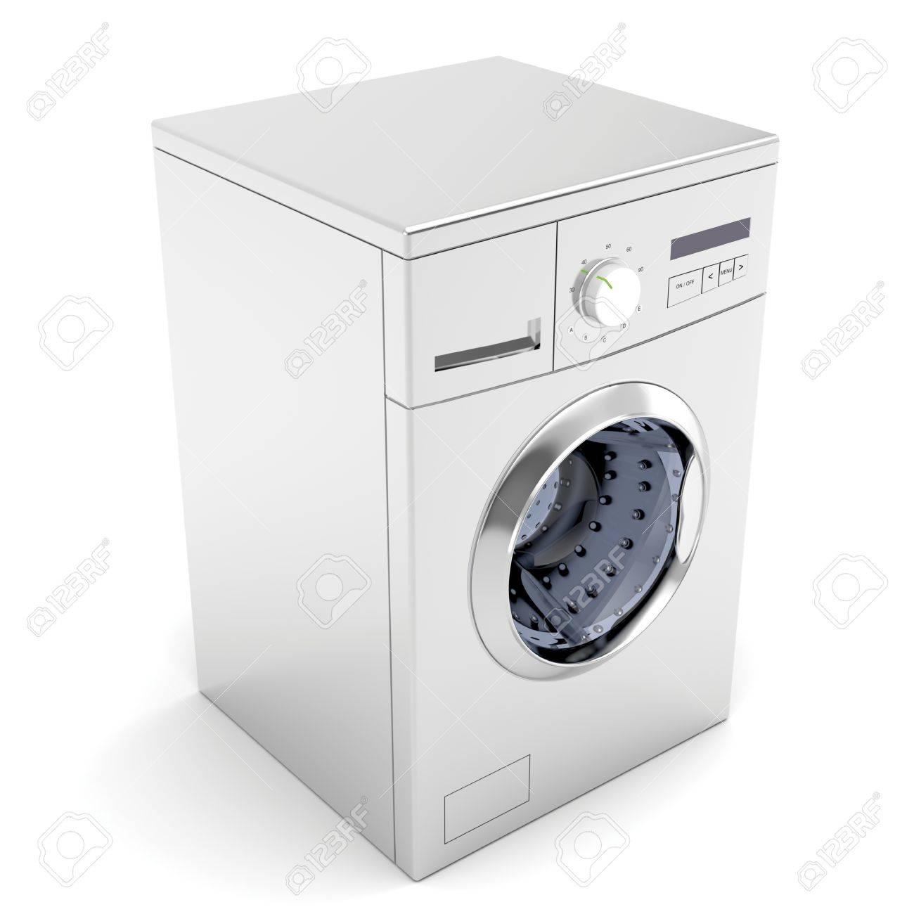 Washing machine on white background Stock Photo - 12459837