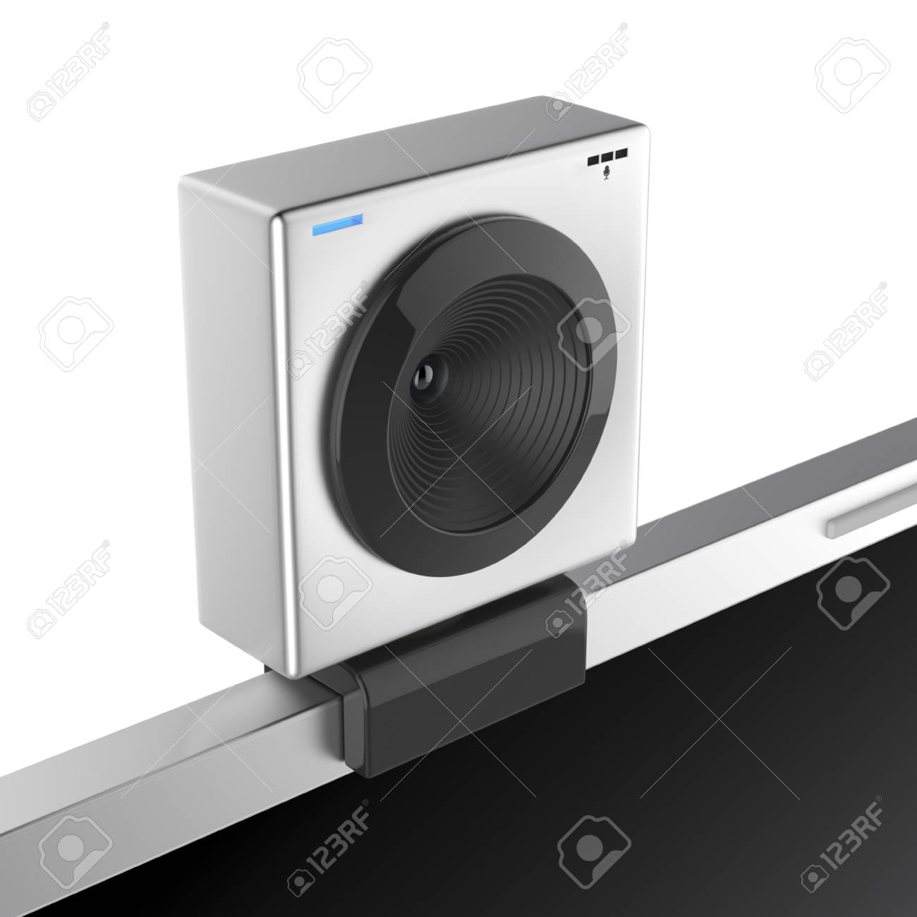 Web cam attached on laptop screen Stock Photo - 17087722