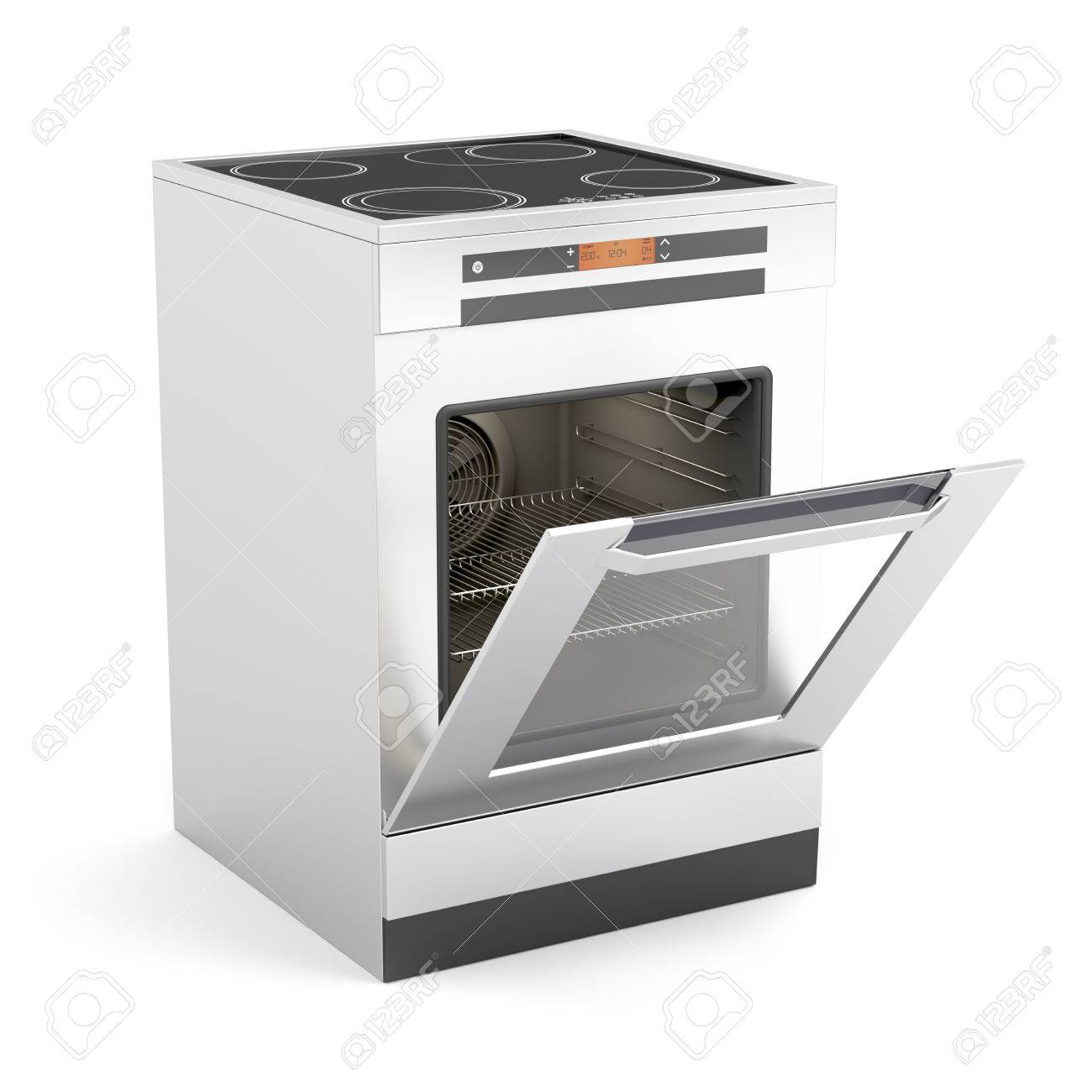 electric stove. Contemporary Electric Modern Electric Stove With Opened Door On White Background      24476128 In Electric Stove