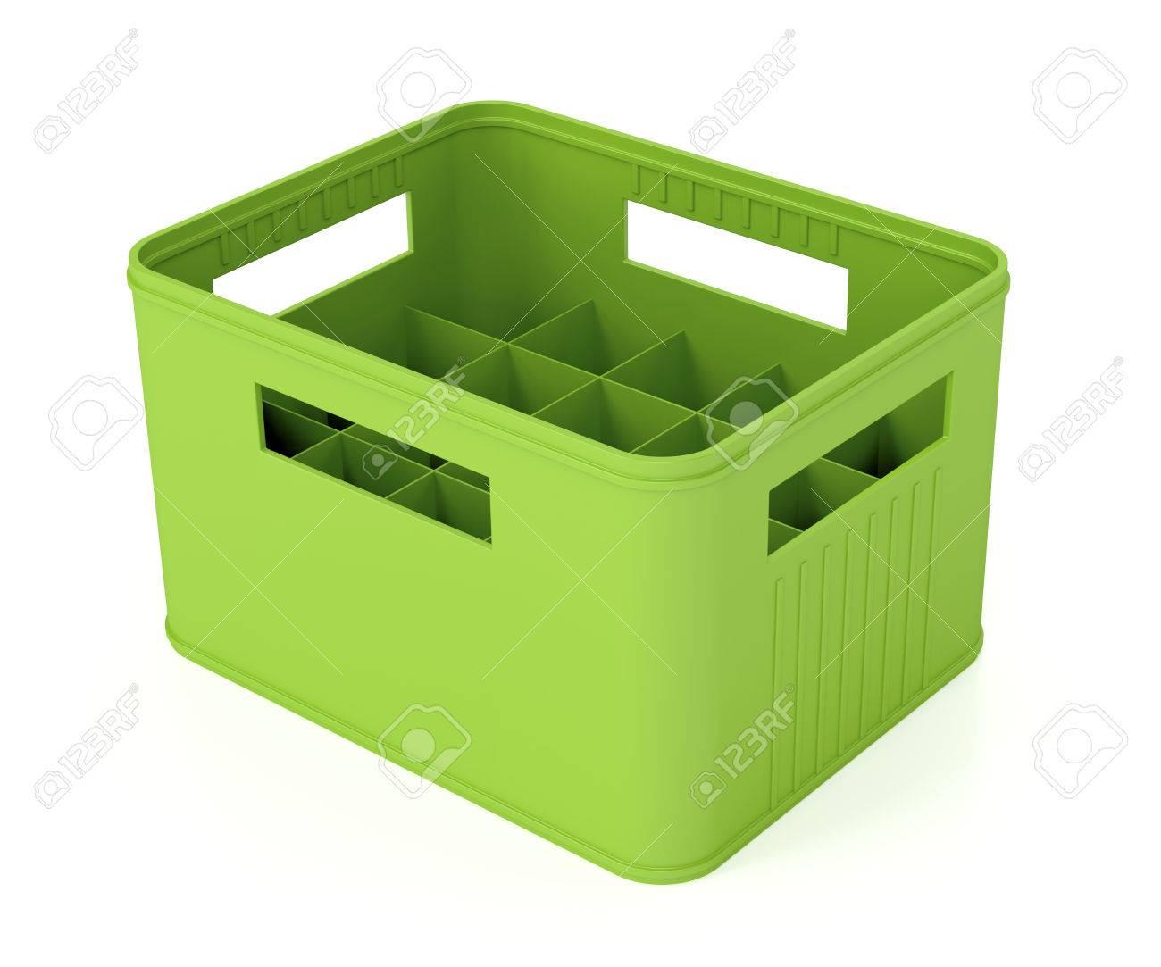 banque dimages vert de la bire en plastique caisse sur fond blanc - Caisse Biere Plastique