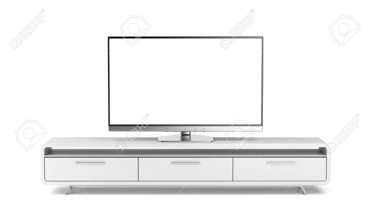 T L Vision Cran Plat Sur Meuble Tv Moderne Banque D Images Et  # Meuble Ecran Plasma Moderne