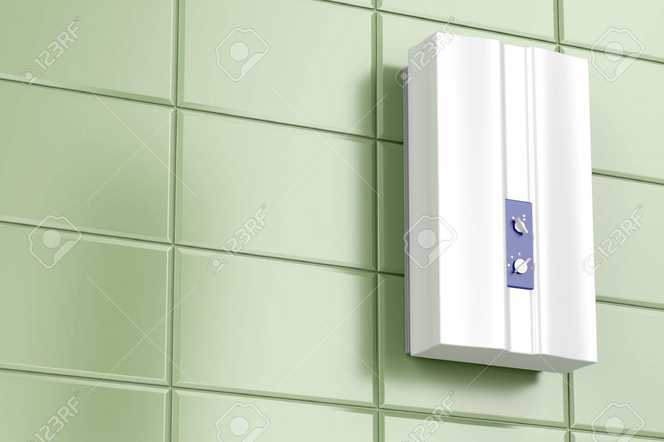 Tankless water heater in the bathroom - 80416008