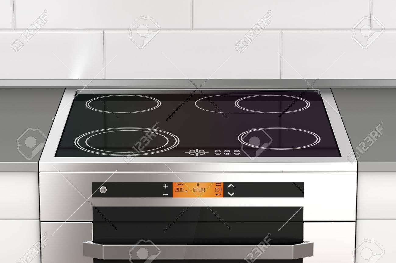 grossiste 9c9df d57fa Cuisinière électrique moderne avec plaque de cuisson à induction dans la  cuisine