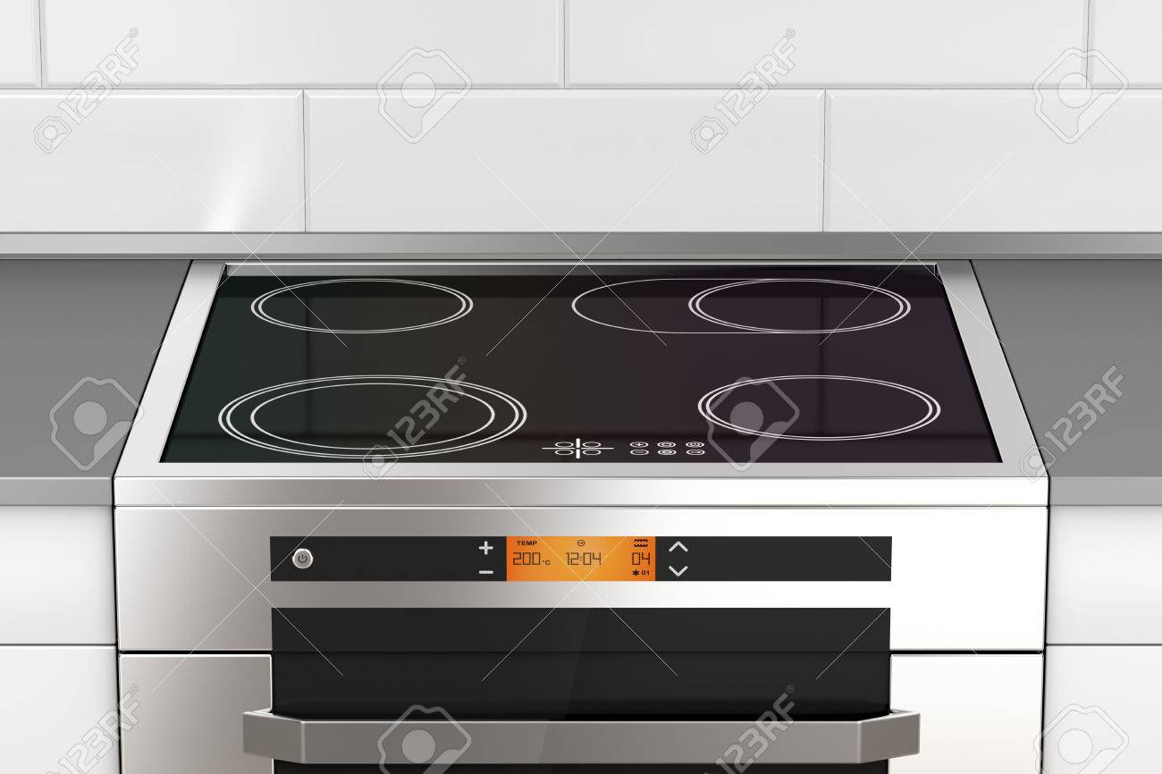 Charmant Modern Electric Stove With Induction Cooktop In The Kitchen Stock Photo    81263807
