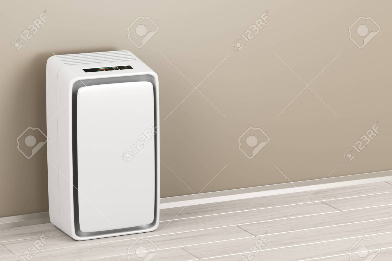 Electric air purifier in the room - 122803713