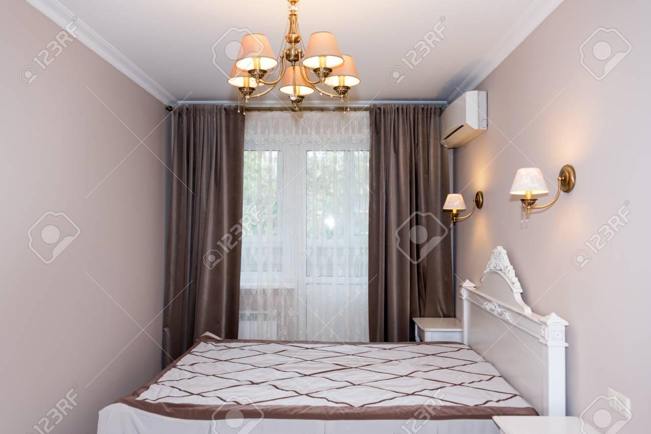 Petit Intérieur De Chambre à Coucher Moderne. Couleurs Pastel, Design  Du0027intérieur.