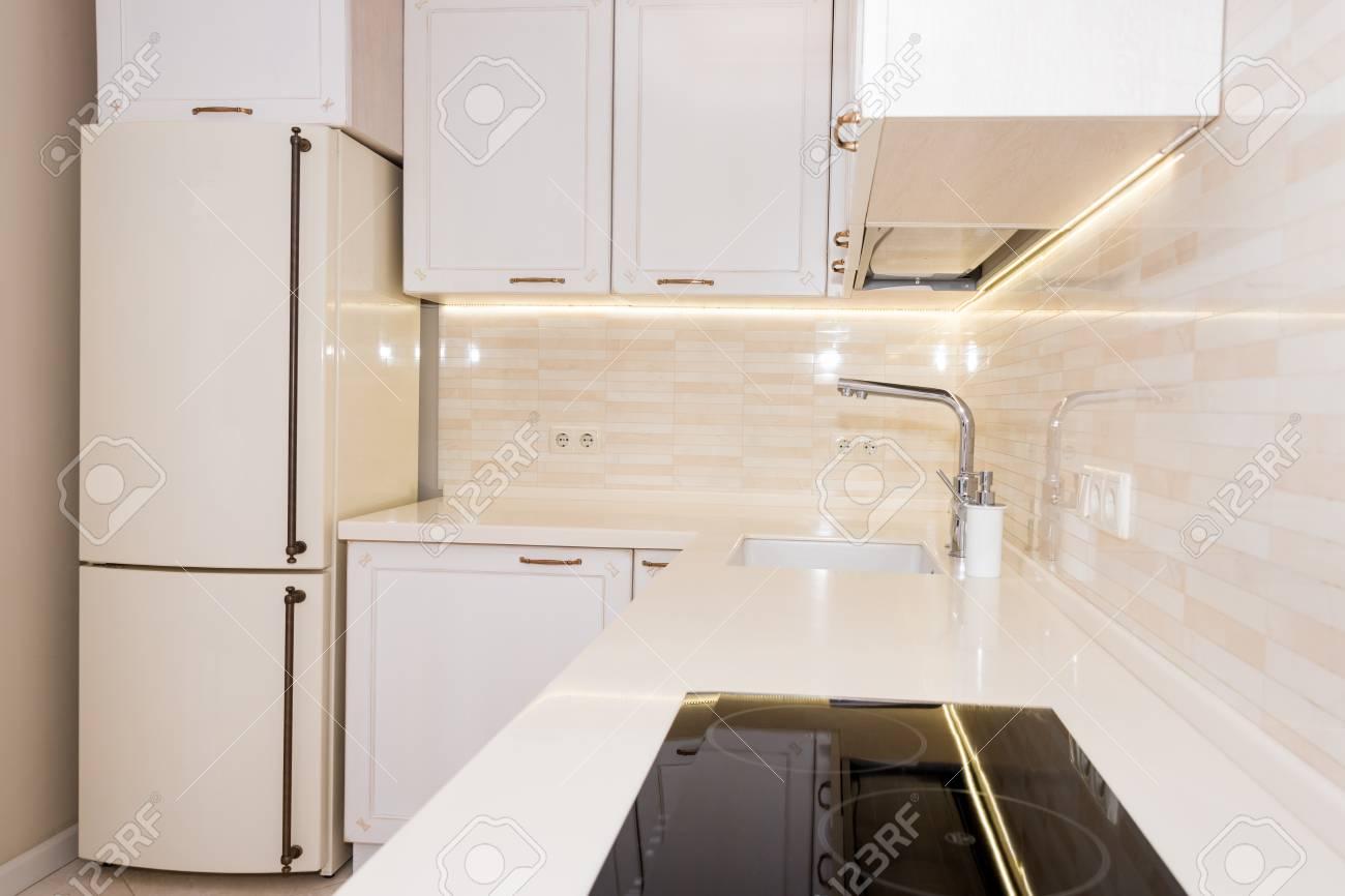Modern Bright Clean Kitchen Interior In A Luxury House Interior