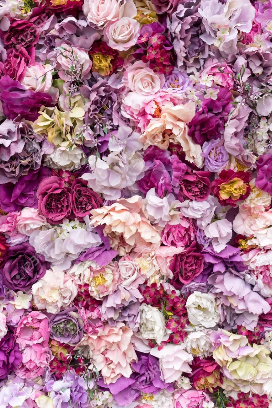 Fondo De La Textura De La Flor Para La Escena De La Boda Rosas
