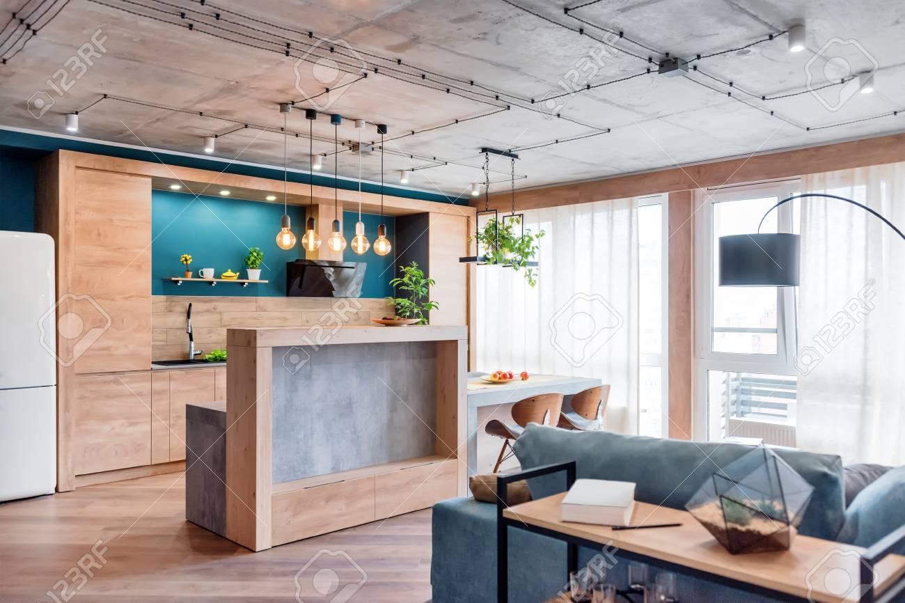 Minimalist Modern Living Room With Sofa In Loft Style Flat Modern