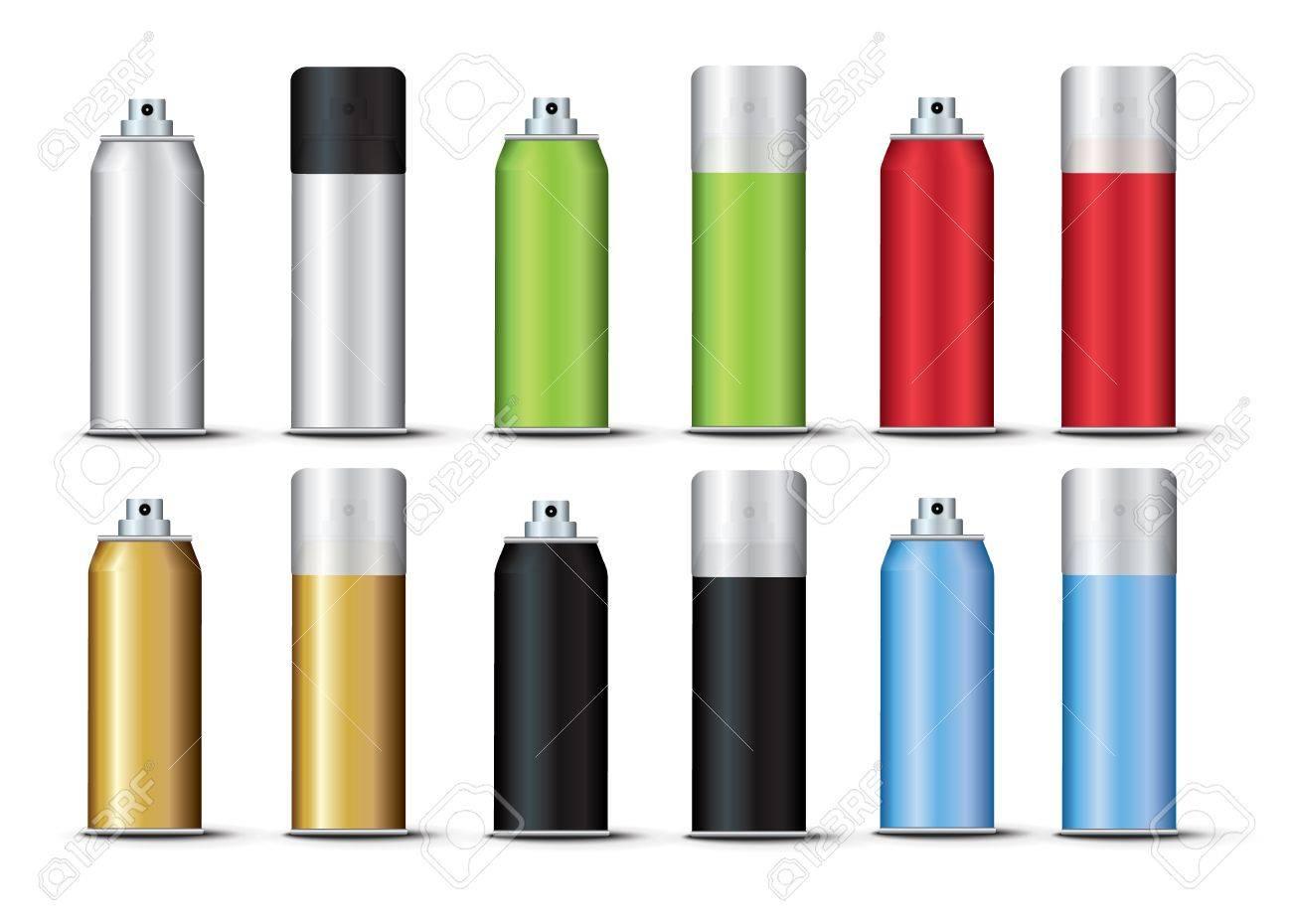 Set Spray Template Color Stock Vector - 20747051
