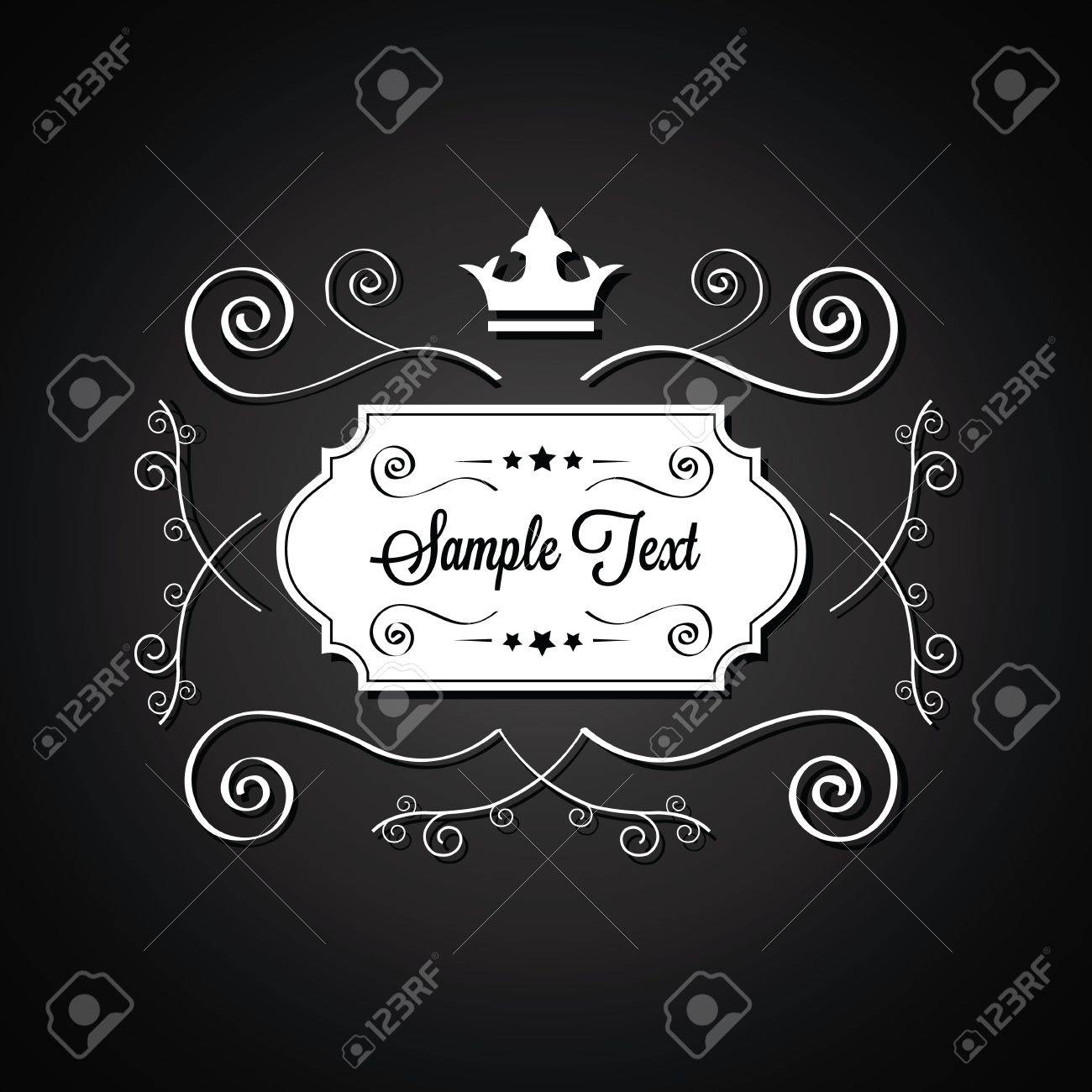 Black Vector Abstract Background for Sample Text Stock Vector - 21918548