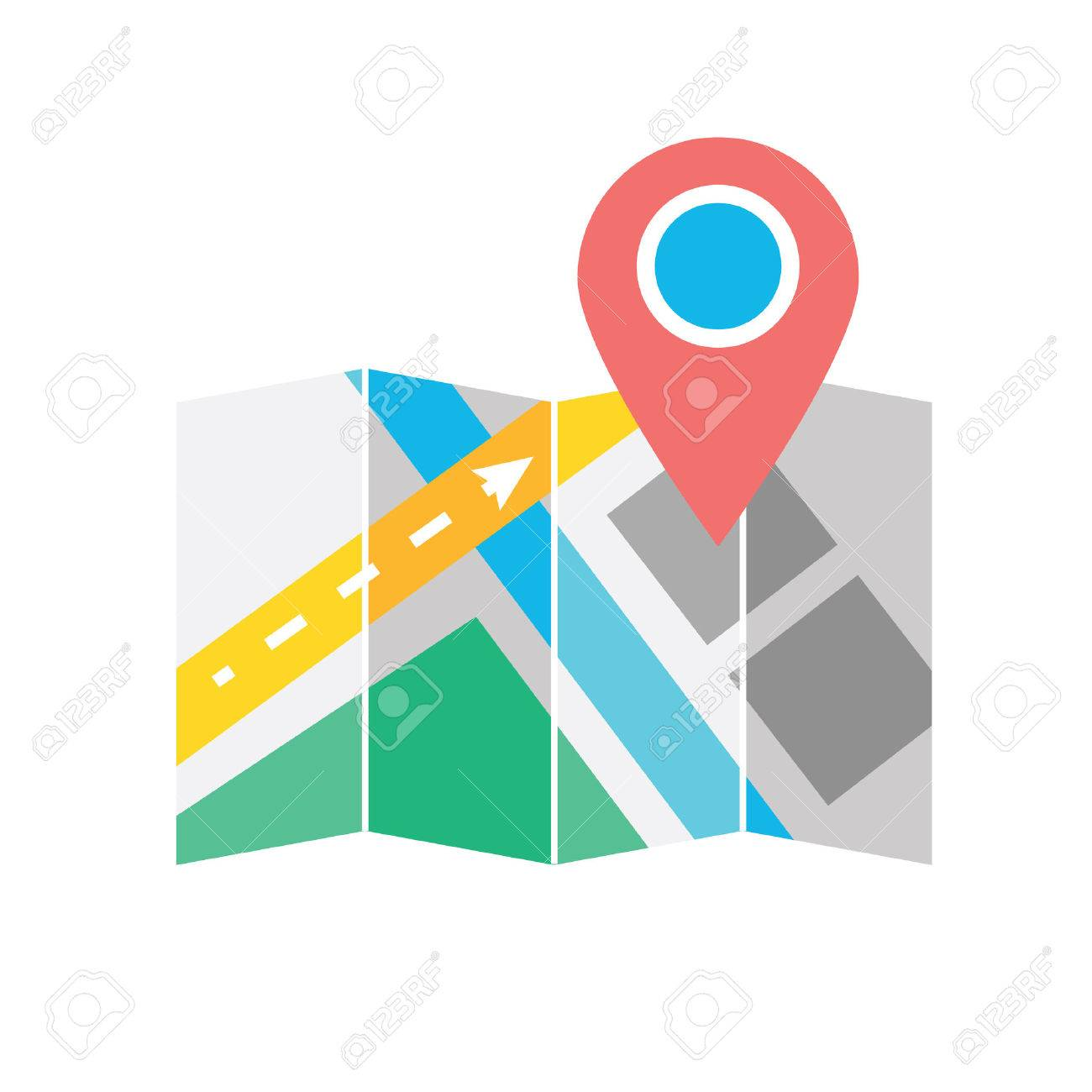 Map with Label Icon - 22811934