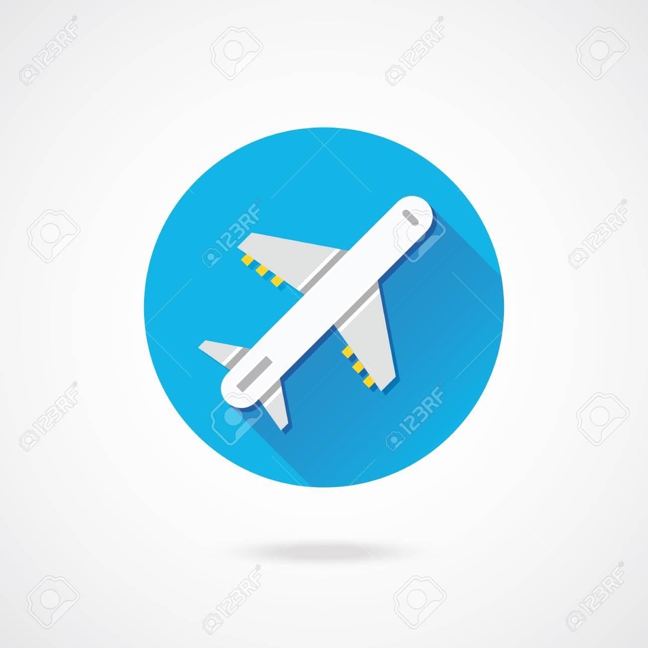 Vector Airplane Icon Stock Vector - 23159740