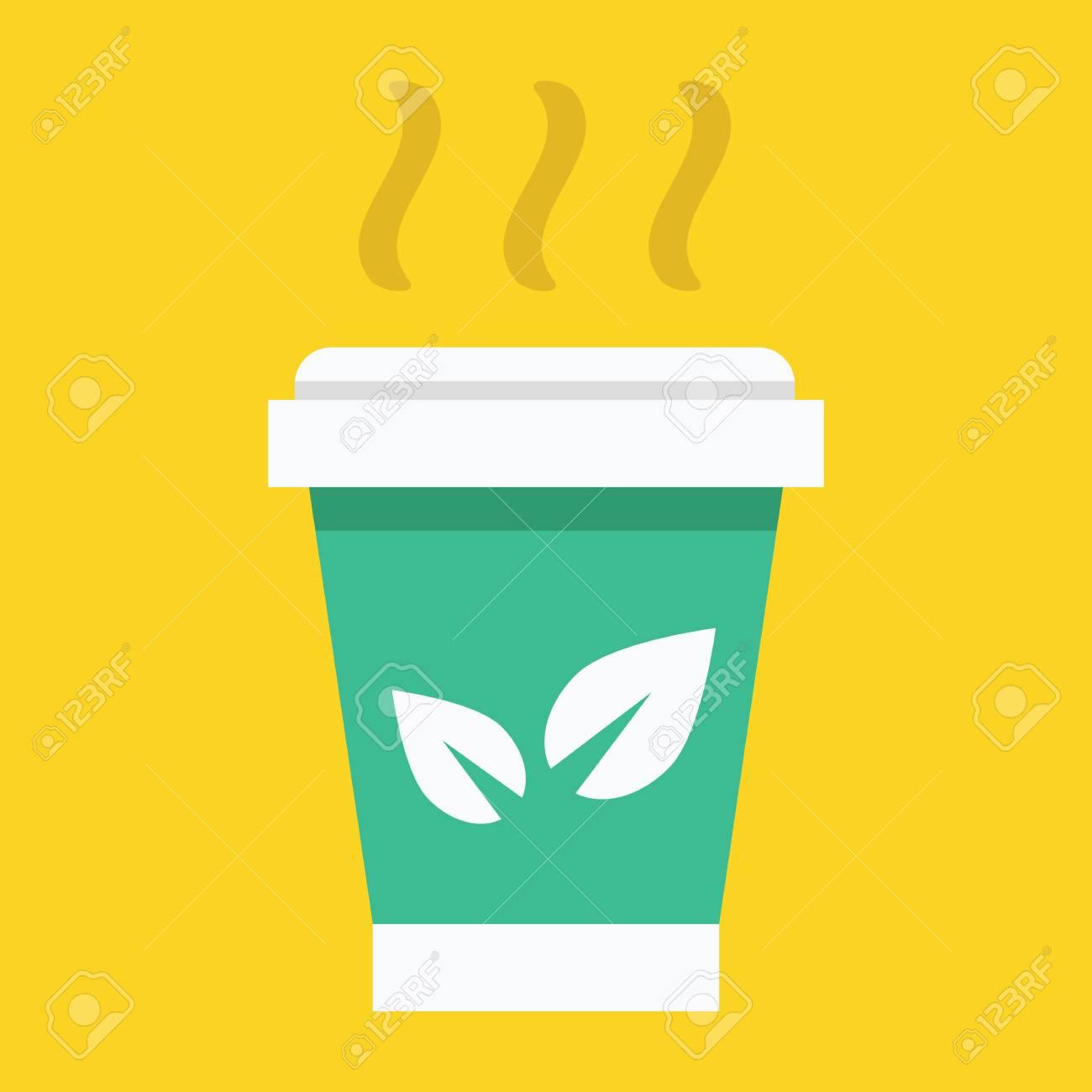 Paper Tea Cup Icon Stock Vector - 26454841