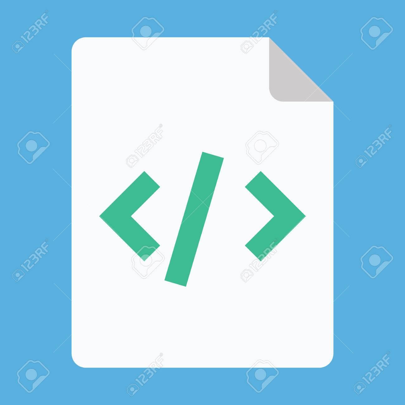 Script Icon Stock Vector - 26454912