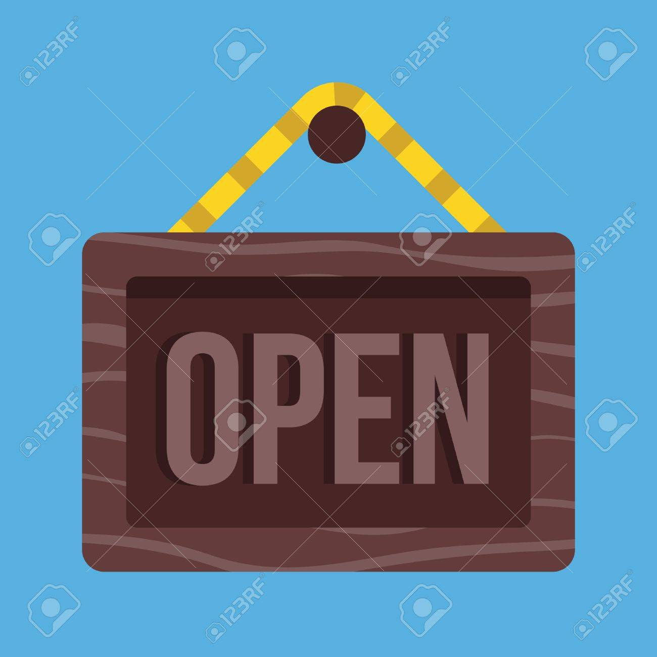 Vector Open Hanging Sign Icon Stock Vector - 26482329