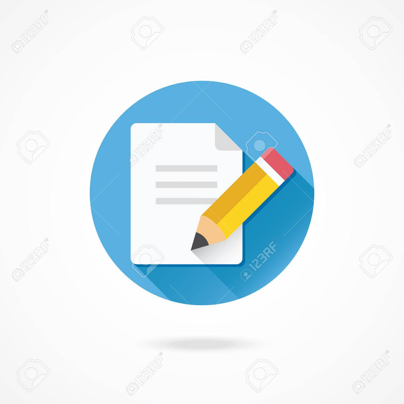 Vector Pencil and Document Icon Stock Vector - 27381874