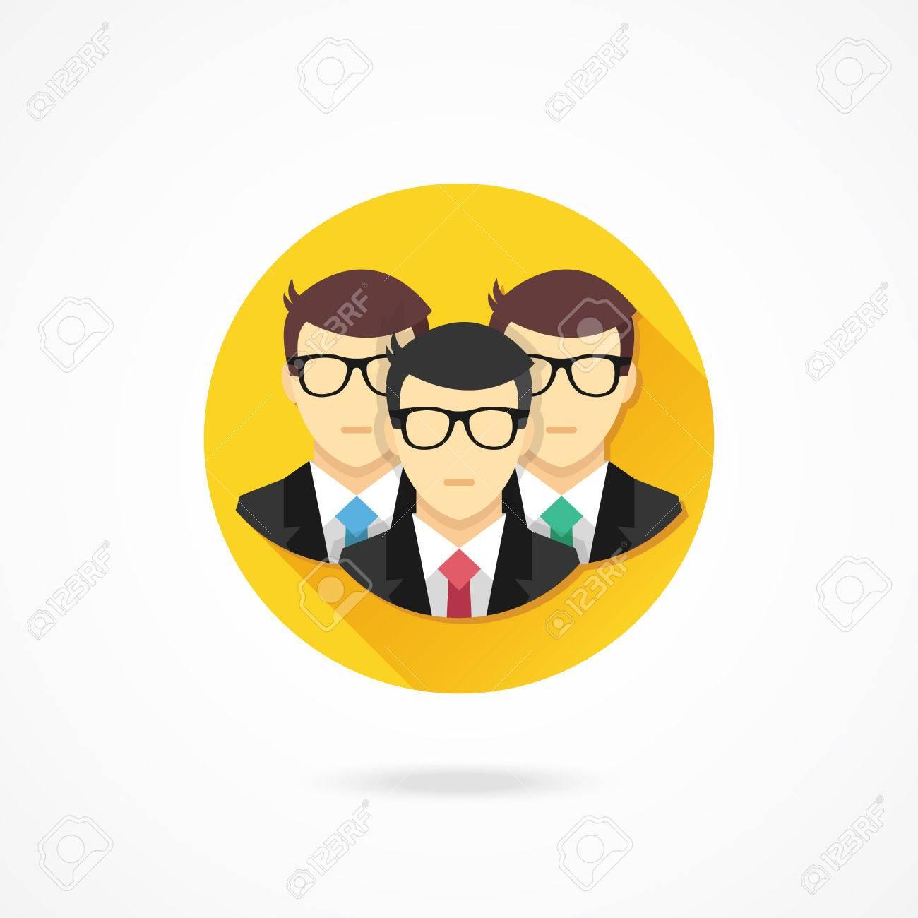 Vector Teamwork Icon Stock Vector - 27344979