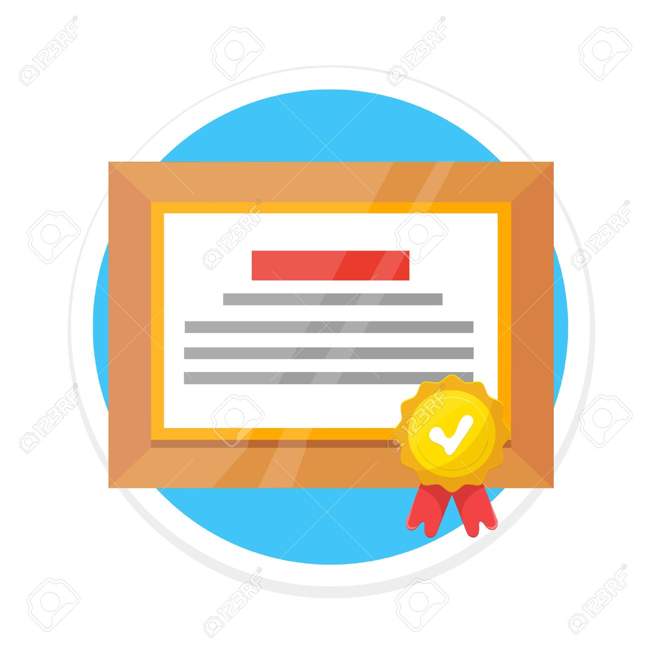 certificate flat round icon royalty free cliparts vectors and rh 123rf com vector certificate vector certificate border