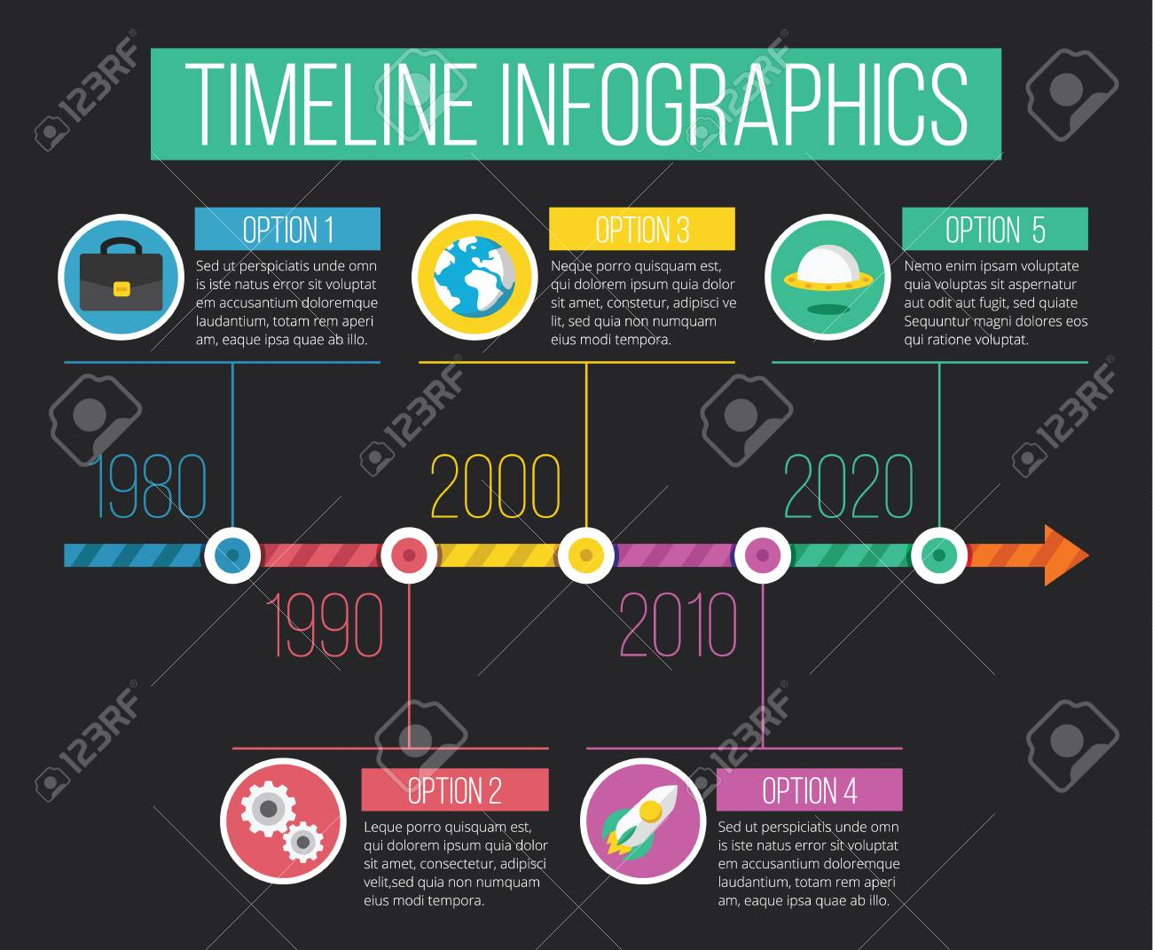Vector Timeline Infographics 03 Royalty Free Cliparts 45744865830