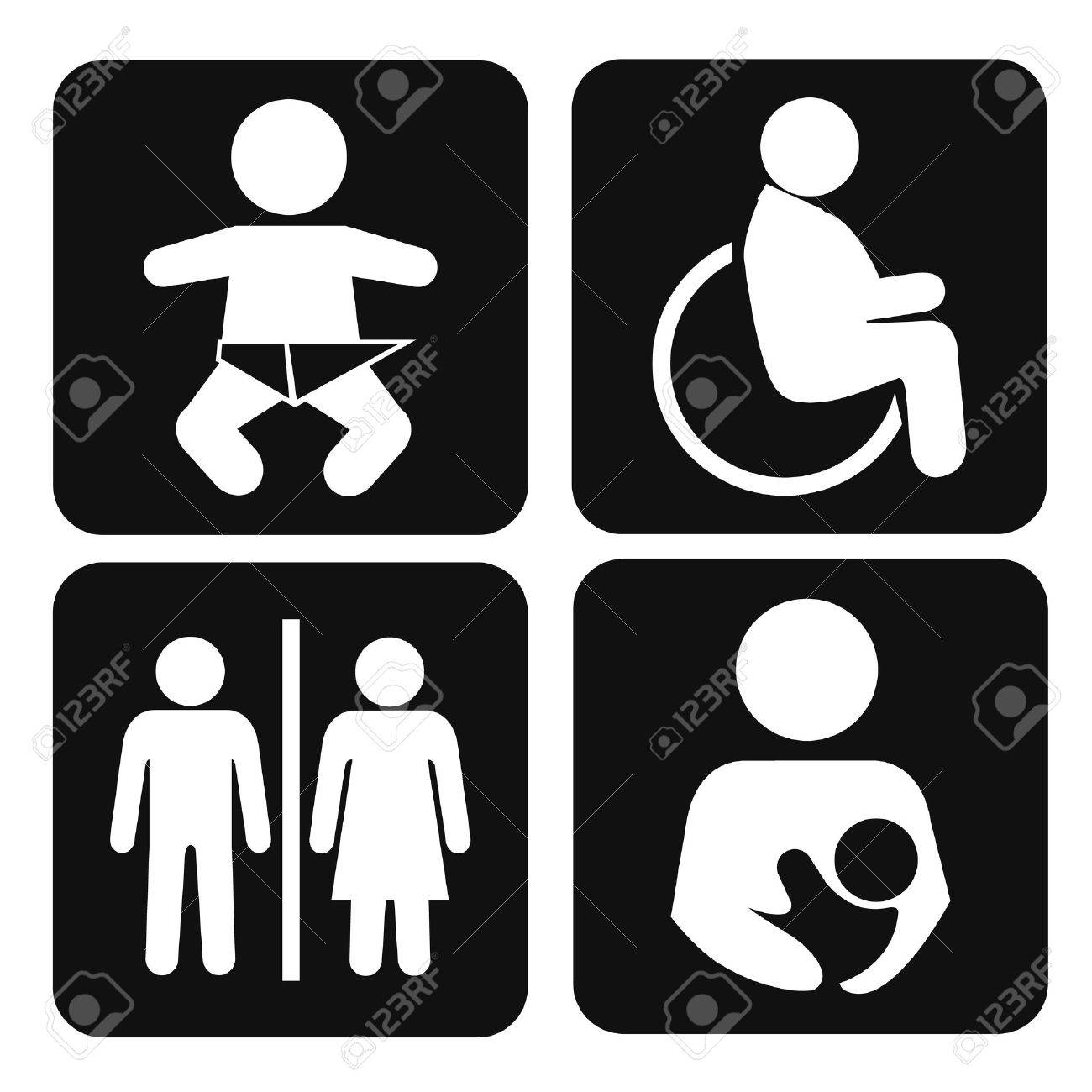 Vector set of international service signs pictogram icon set - 32687439